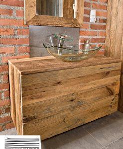 szafka-pod-umywalkę-drewniania-z-drewna