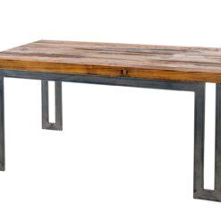 Stół z prostą podstawą wykonaną ze stalowych profili. Blat wykonany ze starego drewna sosnowego. Stół, który idealnie wkomponuje się w Twoje wnętrze.