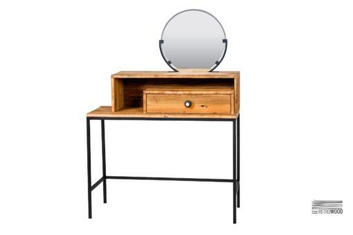Finnsto - konsola wykonana ze starego drewna sosnowego i stali