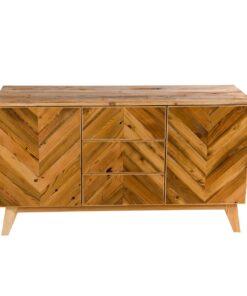 Nasza komoda, to mebel idealny. Została ona stworzona z drewna odzyskanego z dawnych, kresowych chat, co sprawia, że ma w sobie starodawny urok.