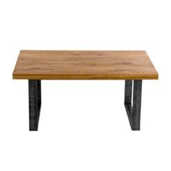 Wytworny stolik, to perfekcyjny mebel do wnętrz typu loft oraz urządzonych w stylu industrialnym. Blat został wykonany z drewna dębowego.